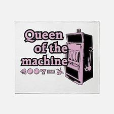 Queen of the machine Throw Blanket