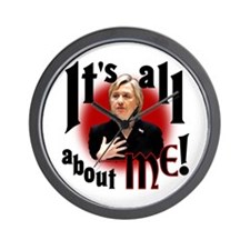 "Hillary ""All about Me"" Wall Clock"