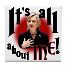 "Hillary ""All about Me"" Tile Coaster"