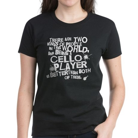 Funny Cellist Women's Dark T-Shirt