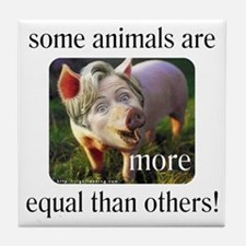 "Hillary ""Some Animals"" Tile Coaster"