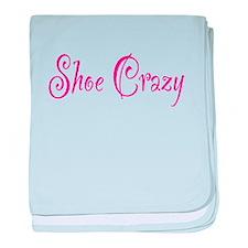 Shoe Crazy baby blanket