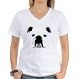 Bulldog Womens V-Neck T-shirts