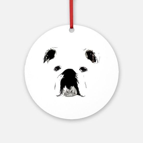 Bulldog Bacchanalia Ornament (Round)
