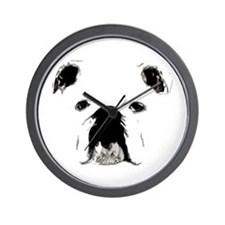 Bulldog Bacchanalia Wall Clock