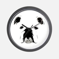 Bulldog Bacchanalia Wall Clock