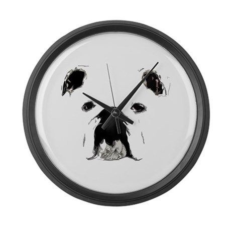 Bulldog Bacchanalia Large Wall Clock