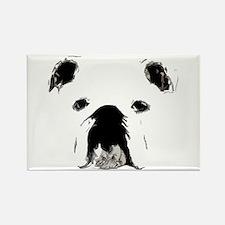 Bulldog Bacchanalia Rectangle Magnet