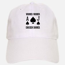 WINNER CHICKEN DINNER Baseball Baseball Cap