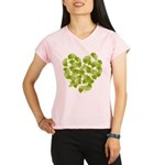 Ginkgo Leaf Heart Women's double dry short sleeve