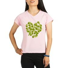 Ginkgo Leaf Heart Women's double dry short sleeve
