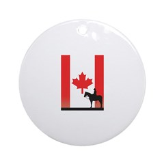 Canadian Mountie Flag Ornament (Round)
