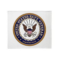 US Navy Veteran Proud to Have Throw Blanket