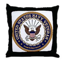 US Navy Veteran Proud to Have Throw Pillow