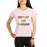 Support Gay Marriage Women's double dry short slee