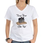 Keep Your Chin Up Women's V-Neck T-Shirt