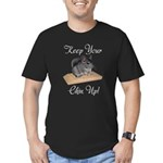 Keep Your Chin Up Men's Fitted T-Shirt (dark)