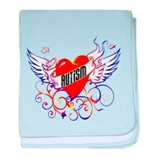 Autism Will Give You WIngs baby blanket