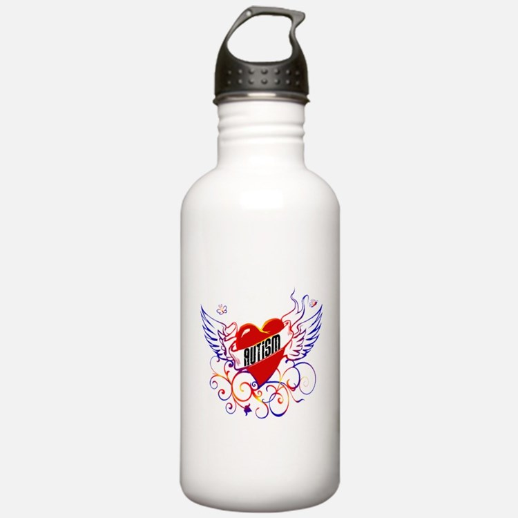 Autism Will Give You WIngs Water Bottle