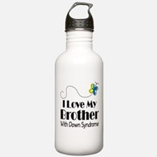 Down Syndrome Brother Water Bottle