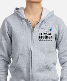 Down Syndrome Brother Zip Hoodie