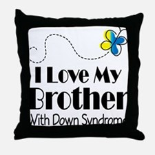 Down Syndrome Brother Throw Pillow