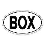 (BOX) Euro Oval Sticker (Oval 10 pk)