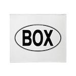 (BOX) Euro Oval Throw Blanket