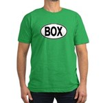 (BOX) Euro Oval Men's Fitted T-Shirt (dark)
