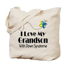 Down Syndrome Grandson Tote Bag