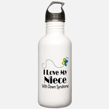Down Syndrome Niece Water Bottle