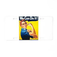 Rosie The Riveter Aluminum License Plate