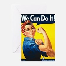 Rosie The Riveter Greeting Cards (Pk of 20)