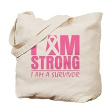I am Strong Breast Cancer Tote Bag