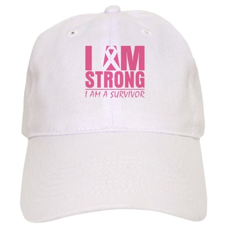 I am Strong Breast Cancer Cap
