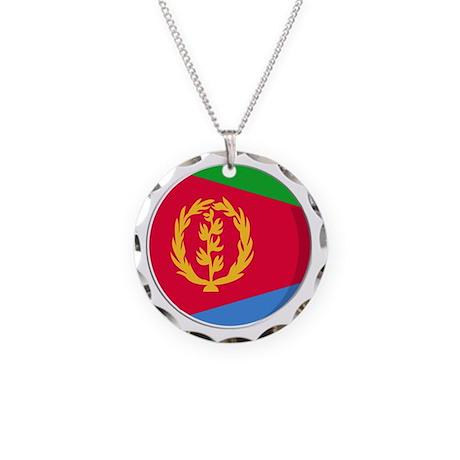 Cool Eritrean flag designs Necklace Circle Charm