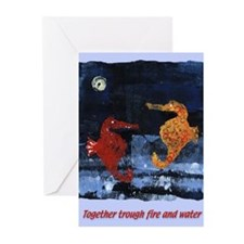 Together... (Sea Horses) Greeting Cards (Package o