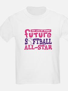 Future Softball All Star Girl T-Shirt