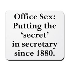 Office Sex Secret Secretary S Mousepad