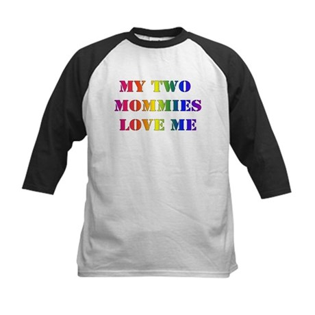 MY TWO MOMMIES LOVE ME Kids Baseball Jersey