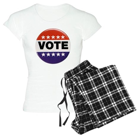 Get Out the Vote Button Women's Light Pajamas