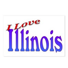I Love Illinois Postcards (Package of 8)