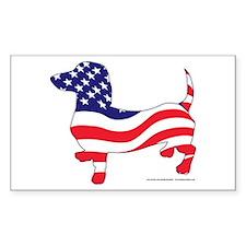 Original Patriotic Wiener Decal