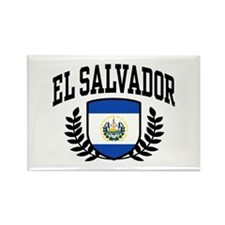 El Salvador Rectangle Magnet