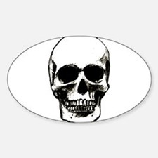 Male Skull Oval Decal