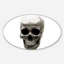 Female Skull Oval Decal