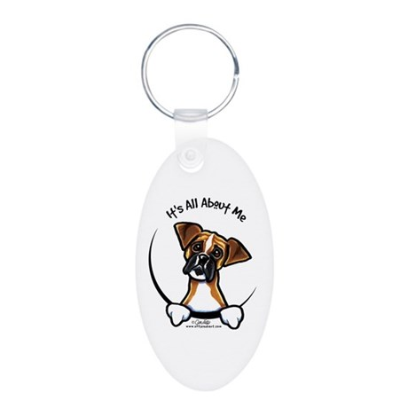 Funny Boxer Aluminum Oval Keychain