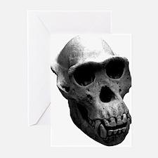 Chimpanzee Skull Greeting Cards (Pk of 10)