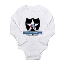 2nd Infantry CIB Long Sleeve Infant Bodysuit