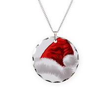 Christmas Santa Hat Necklace Circle Charm
